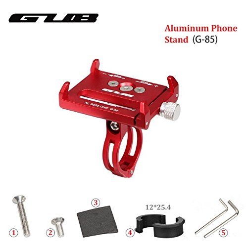 GUB G-85 Bike CNC Phone Holder 3.5-6.2 inch Phone Mount Support GPS Case Bicycle Motorcycle Handlebar Extender-Red