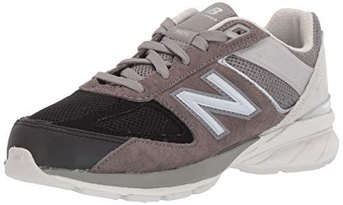 New Balance Boys' 990v5 Sneaker, Marblehead/Nimbus Cloud, 4.5 M US Big Kid