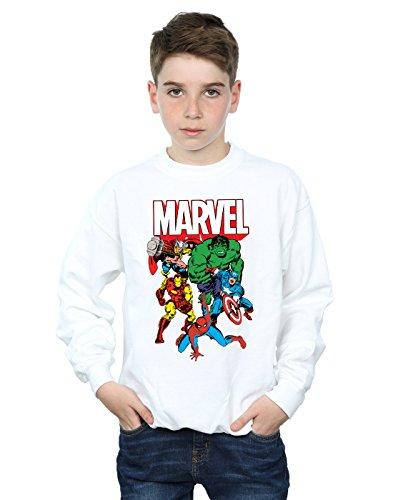 Marvel Niños Hero Group Camisa De Entrenamiento Blanco 12-13 Years