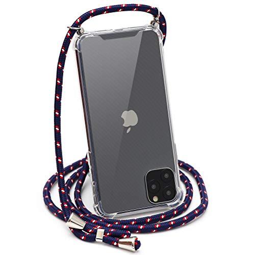 ZhuoFan Cover Per Apple iPhone 12 Pro/12 6,1', Custodia Silicone Clear con a Corda di Nylon Disegni Ultra Slim Morbido Antiurto Angoli Rinforzati Protezione Bumper Phone Cases per iPhone 12/12 Pro, 12