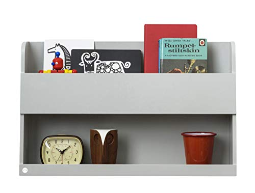 Tidy Books Bunk Bed Shelf (Age 6-99) The Original Bunk Bed Buddy, Bunk Bed Storage, Kids Floating Shelves, Wood Bedside Shelf, Grey, Wooden, 13 x 20.9 x 4.7, Eco Friendly, Handmade