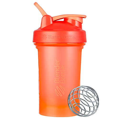 BlenderBottle Classic V2 Shaker Bottle Perfect for Protein Shakes and Pre Workout, 20-Ounce, Coral