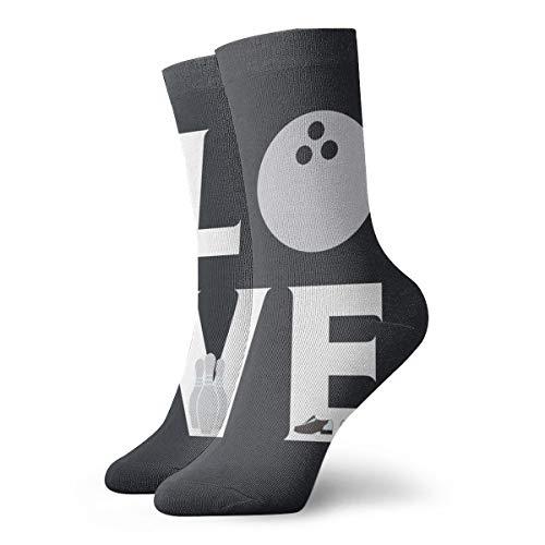 Ruin Love Bowling-Socken, kurz, bequem, verschleißfest, rutschfest, für Männer und Frauen, Polyester, weiß, Einheitsgröße