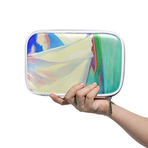 Boot Kunst Schilderij Potlood Case Cosmetische Tas Grote Capaciteit Organizer Make-up Koppeling Tas voor Reizen School