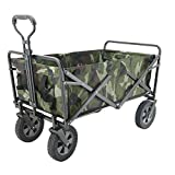 RSTJ-Sjef Portable Camping Cart with 7.8Inch Utility Big Wheels, 600D Oxford Cloth High Load Bearing Beach...