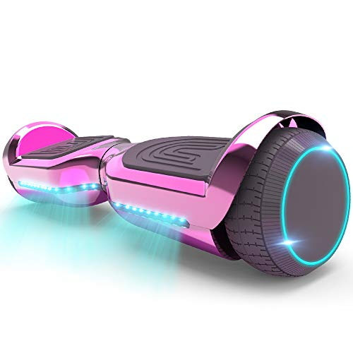 HOVERSTAR Hoverboard All-New Mode- HS2.1 Two-Wheel Self Balancing Scooter with Flashing Blue Wheel Lights and Wireless Bluetooth Speaker (Chrome Pink)