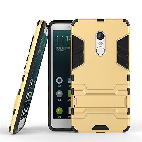 Funda Protectora para Xiaomi Redmi Note 4 Soporte Titular de la Caja del teléfono, Cubierta Posterior del Soporte ascitado, Cubierta Protectora (Color : Yellow)