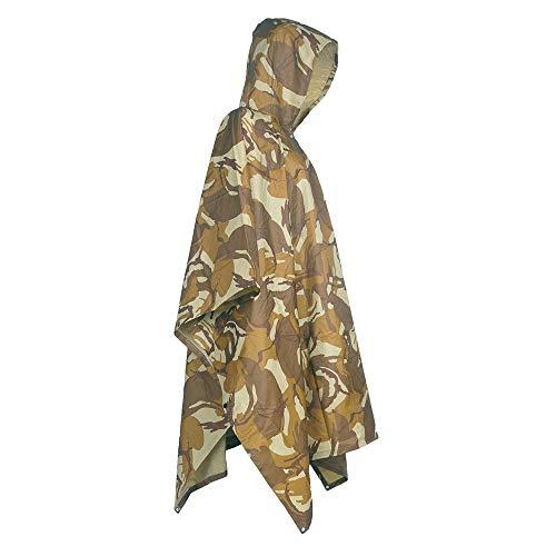 raincoat Poncho, imperméable Camouflage de Sports de Plein air, Poncho imperméable, imperméable Camouflage, auvent/Tapis de Sol