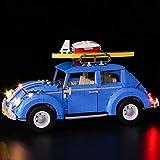 Nlne Kit De Iluminación Led para Lego Creator Expert Volkswagen Beetle, Compatible con Ladrillos De Construcción Lego Modelo 10252 (NO Incluido En El Modelo)