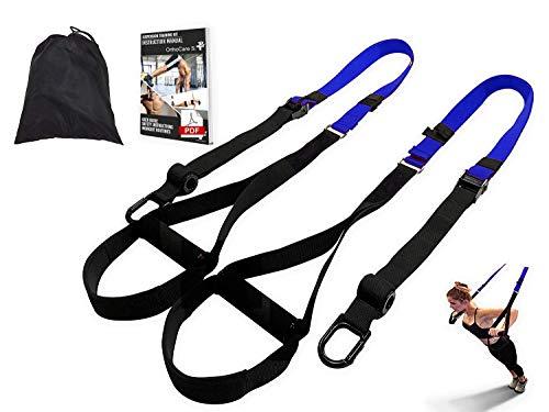 Ortho Care S Fitness - Entrenamiento en Suspension/Funcional con Cuerdas. Kit Multifuncion Gimnasia - Fortalecimiento, Resistencia y Tonificacion Muscular. con Anclaje para Puerta.… ✅