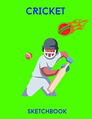 Cricket Sketchbook: Cool Sketchbook for kids with 120 pages of 8.5