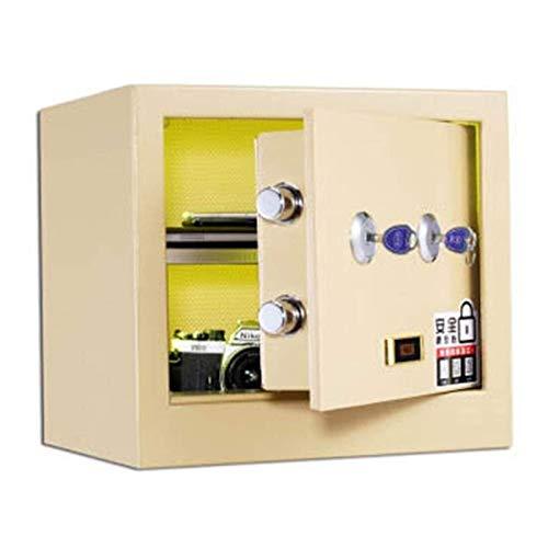 DJDLLZY Las Cajas de Efectivo y Casillas de verificación Productos de Oficina Caja Fuerte mecánica de Bloqueo Gabinete de Almacenamiento de los 36CM Alta Llave Doble for el hogar y la Oficina (Color: