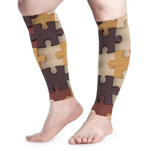 lili Wadenbein-Kompressionshülse für Männer Puzzle-Läufer-Zirkulationsarm-Kühlabdeckung