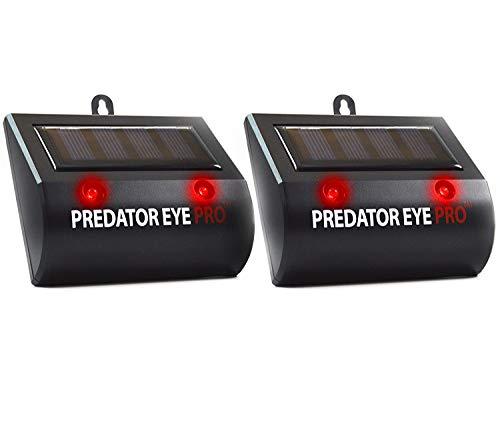 Aspectek Predator Eye PRO 4600sq ft Coverage w/Kick Stand Solar Powered Predator Light Deterrent Light Night Time Animal Control - 2 Pack