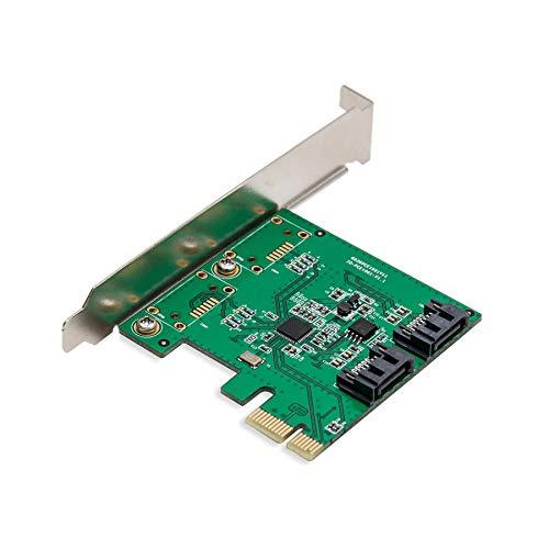 IO Crest 2 Port PCI-E 2.0 x1 SATA III 6Gbps