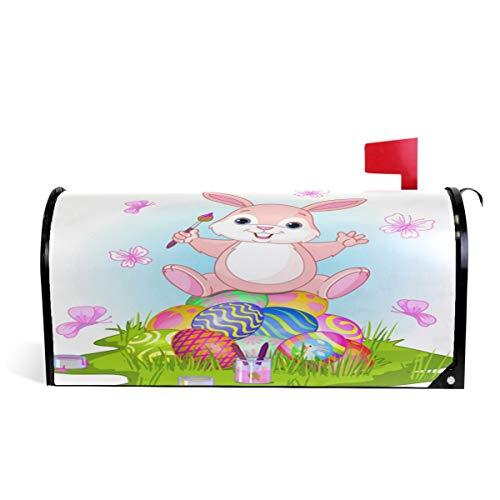 Wamika Boîte aux Lettres magnétique pour fêtes de Pâques Motif Lapin Assis sur des œufs Taille Standard 51 x 46 cm 52.6x45.8cm Multicolore