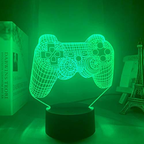 ZXBB 3D LED Luz de Noche RGB Cambio de Color 3D Lámpara de Mesa de la Luz de Noche Decoración para Regalo de Navidad 16colorwithremote