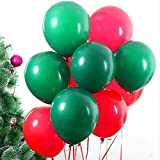 Aozoey 10' 100pcs Red and Green Balloons for Christmas