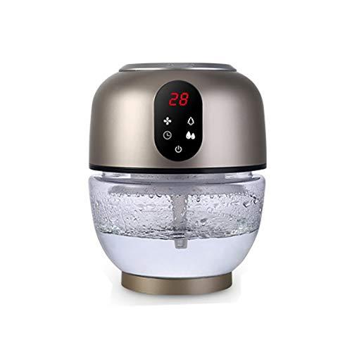 Xuyan Luchtbevochtiger machine aromatherapie, automatische luchtreiniger met aromatherapie, koude mist, automatische uitschakeling zonder water, professionele slaapkamer, kantoor, goud