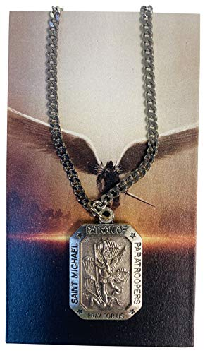 St Michael Medal Deluxe Paratroopers Patron Saint Boxed Set with Holy Card