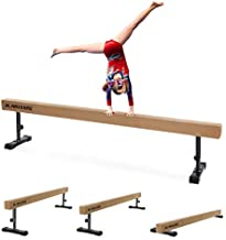 MaxKare 8FT Child Balance Beam Gymnastics Beam with 3 Level Height Adjustable for Girls & Kids, Home Use (Brown)