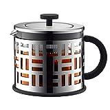 vobajf caffettiere a pistone french press vaso di vetro coffee pot resistente al calore filtro premere teiera 1500ml cafetieres (colore : a, size : 1500ml)