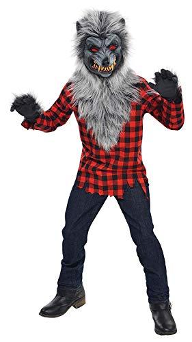 Christys London Disfraz Hombre Lobo para niños y Adolescentes en Varias Tallas Halloween