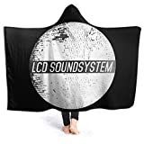 MOOCMTEE LCD-Soundsystem Hooded Cool Warm Oversized Cloak Cape LCD-Soundsystem Shawl Blanket Throw with Hood for Men Womens Kids