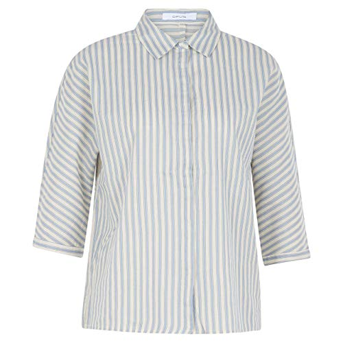 OPUS Damen Frona Stripe Bluse, Light Breeze, 42