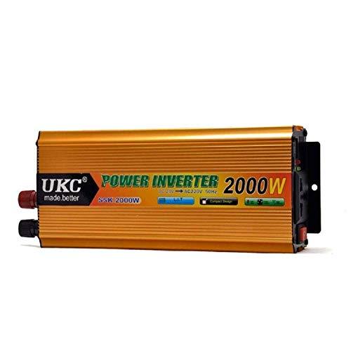 LYHY Potencia máxima, DC12V / 24V a AC 220V-240V, Transformador de Onda sinusoidal modificada Profesional, convertidor de Voltaje...