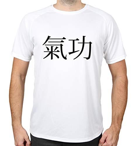buXsbaum® Sport Performance T-Shirt Qigong | Sport Chigong | XXL, Weiß