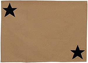 Choices Quilts Star Collection Appliqued Embroidered Placemat 18 Long by 13 Wide on 100% Cotton Sturdy Beige Duck Fabric