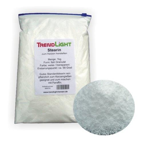 Stearin 5 kg - 100% rein -Palmwachs- Stearin zum Kerzen herstellen