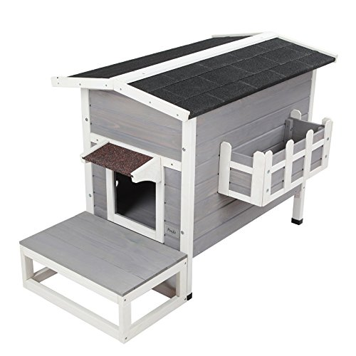Petsfit Weatherproof Outdoor Cat Shelter