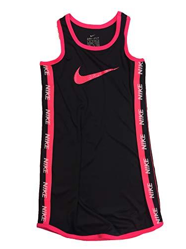 Nike Girl`s Jersey Fit & Flare Dress (Black(36F029-023)/Pink, 6X)