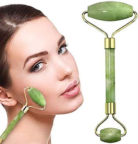 Best Jade Roller – Solution ultime de soin de la peau pour anti-âge et anti-rides – Rouleau 100% pierre de jade naturelle est également parfait comme masseur pour le cou et les yeux gonflés (vert)