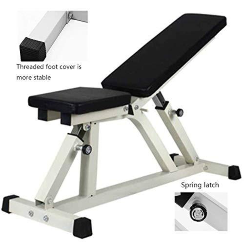 Multifunktions-Hantelbänke Sit-ups Fitness Stuhl Hantel for Bauchmuskeltraining Bett Kommerzielle Vogelbank Home Fitnessgeräte (Color : Black, Size : 110 * 51cm)