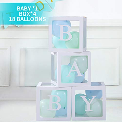 Great Features Of Transparent Balloon Boxes Baby Shower Party Decorations Perfect for Baby Boys Girl...