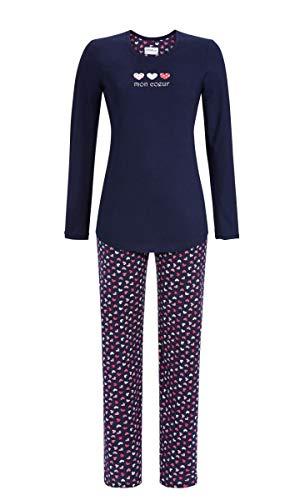 Ringella Damen Pyjama mit Herzchenprint Night 38 9511201, Night, 38