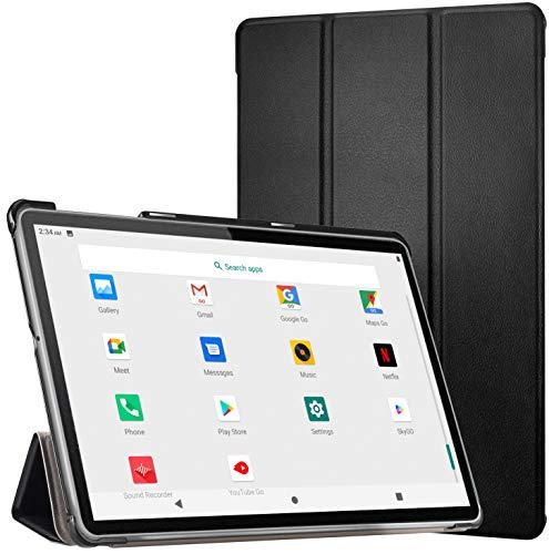 Tablet 10 Pollici -4G LTE +Dual Sim Carta+ WIFI con 10.1'' IPS, Android 10, 4GB RAM + 64GB ROM, Octa-Core, adatto alla DAD/Meet/Bluetooth/GPS/OTG,Suono Stereo con Doppio Altoparlante – Nero