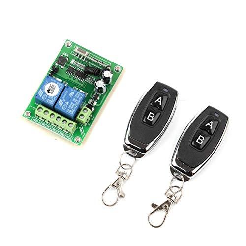 Sylvialuca Relais Drahtlose Fernbedienung Schalter 12 V / 24 V 2 Kanal 433 MHz Zwei Schlüssel Fernbedienung für Garagentor Beleuchtung Vorhänge