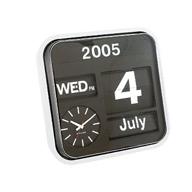 Karlsson Calendar Clock Big Flip, White