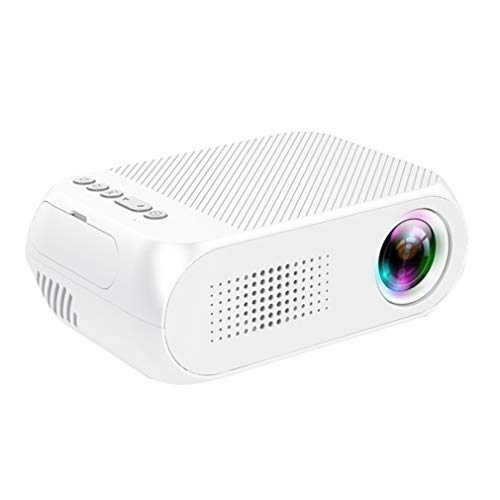 Mini draagbare LED-projector, USB Hdmi home cinema projector Mobile Phone home cinema Multimedia Entertainment-White