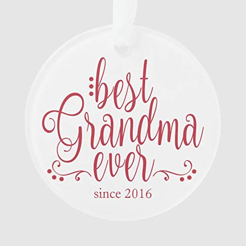 Best Grandma Ever Ornament Personalized 3 Ihch Ceramic Ornament Christmas Tree Decration