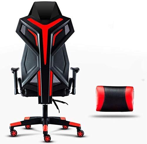 Bürostuhl mit Armlehne Schreibtisch Stühle, Gaming Chair Bürostuhl High Back Computer Stuhl PU-Leder Schreibtischstuhl Vorstand Ergonomischer Adjustable Swivel Aufgaben-Stuhl mit Kopfstütze und Rücken