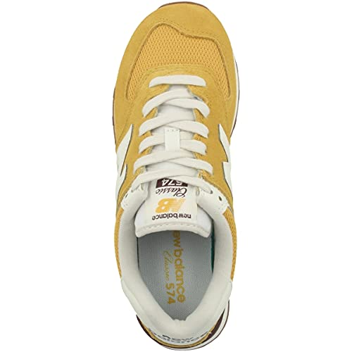 New Balance Zapatillas 574 para mujer, Varsity Dorado, 42 EU