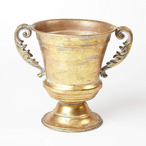 Floristrywarehouse Decorative Metal Vanya Classical Urn Planter 8.75 Inches Gold