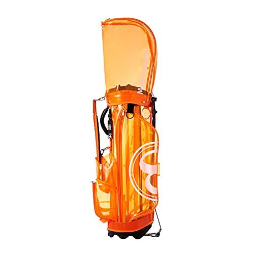フランク三浦 ゴルフ golf キャディバッグ スケルトンモデル FMG-SK-CB (オレンジ)
