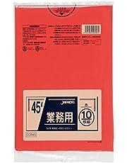 ジャパックス スタンダードポリ袋 カラータイプ 45L 赤 CCR45