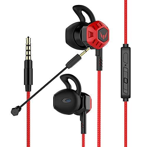 In-Ear-Gaming-Headset Langsdom, Gaming Kopfhörer in Ear mit abnehmbaren Mikrofon, Gaming-Ohrhörer für Nintendo Switch, PC, Laptop, Handy …